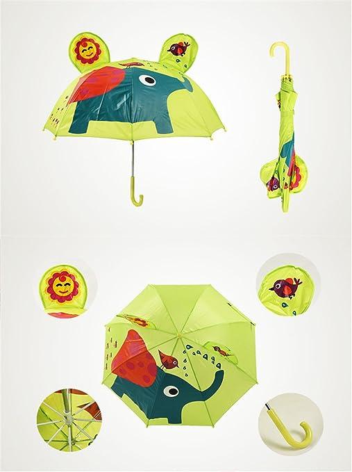 Paraguas de dibujos animados lindo para los niños Elefante