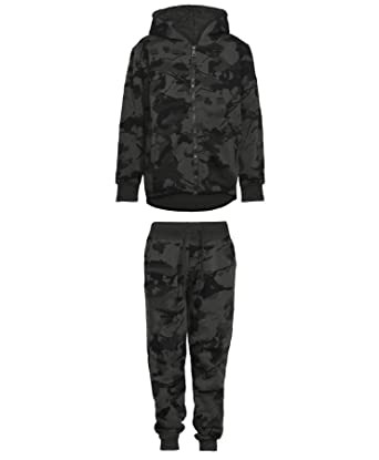 Kids Camouflage Print Tracksuit V-7032 in Camo Charcoal 3-4 Years ... 693bc40210