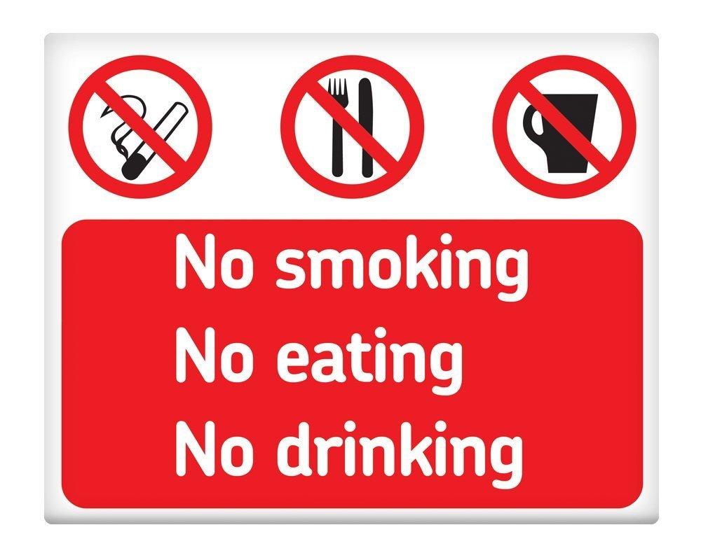 Señal metálica autoadhesiva de prohibido fumar, prohibido ...