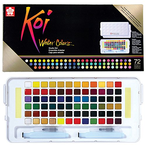 Sakura XNCW-72N Studio Watercolor Set, 72 Colors, Assorted Sakura of America