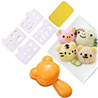 Rice Ball Mold Cute Cat Sushi Mold Animal Onigiri Mold DIY Kitchen Tools Rice Ball Press Mold with Nori Cutter for Home Party Cartoon Cute Bento Lunch Make