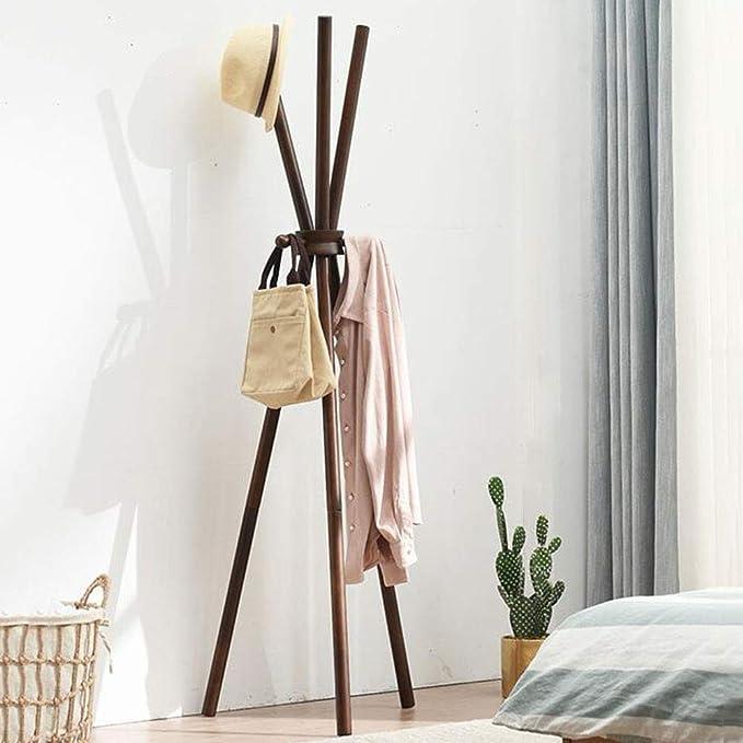 Amazon.com: Xyanzi - Perchero de madera maciza para colgar ...