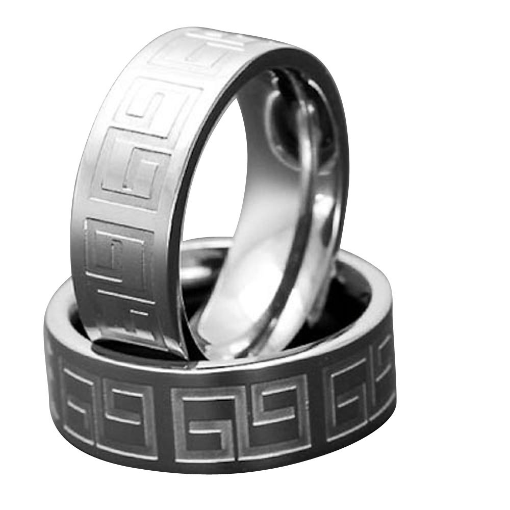 Titanium Men/'s Wedding Band Ring Tire Design Size 6-13