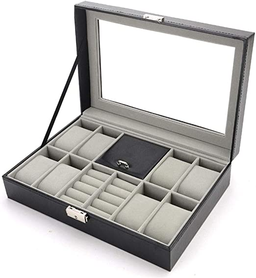 Cajas de joyería DJSSH Reloj for hombre Relojes Box 8, Gemelos ...