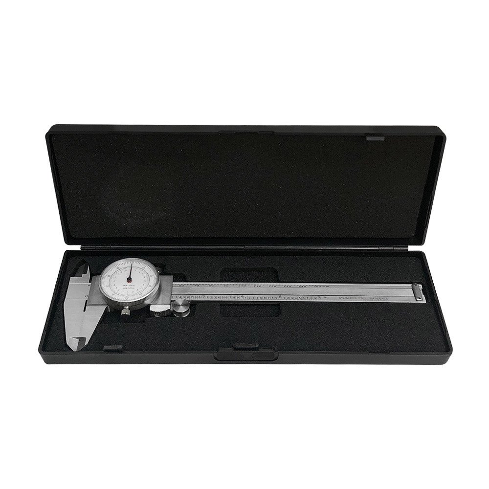 PROLINEMAX 6'' / 150MM Dual Reading Dial Caliper Shockproof Scale Metric SAE Standard INCH MM