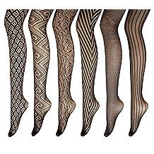 PreSox Fishnet Tights Seamless Nylon Stockings Toeless Pantyhose for Women 5 Pack