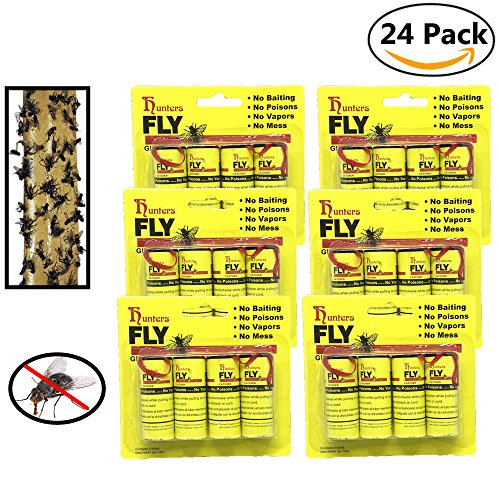UPC 647095884100, 24 PCS Hunters Fly Trap , Fly Trap Tape, Fly Paper Strips , Fly Catcher Trap, Fly Ribbon, Fly Bait,Fly Catcher Ribbon