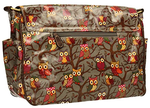 Bag Print Grey Girls Bag Owl Satchel Swanky Handbag School Tree Womens qwf7K0