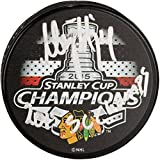 Niklas Hjalmarsson Chicago Blackhawks 2015 Stanley Cup Champions Autographed 2015 Stanley Cup Champions Logo Hockey Puck with 2015 SC Champs Inscription - Fanatics Authentic Certified