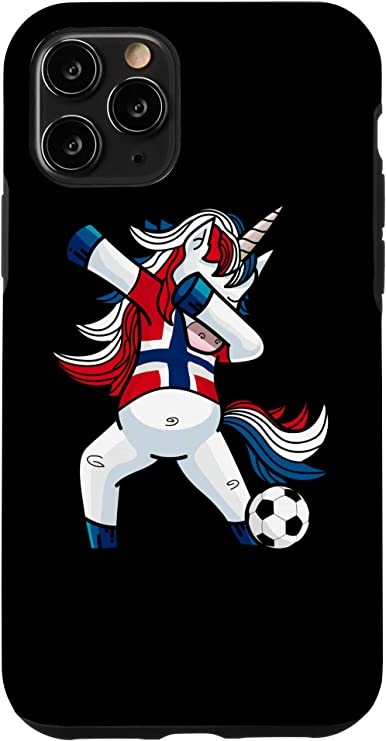 Amazon Com Iphone 11 Pro Dabbing Soccer Unicorn Norway Norwegians Football Case