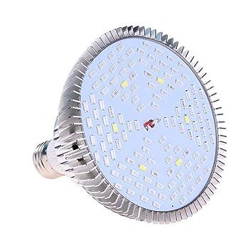 Demiawaking - Bombilla LED de cultivo de espectro completo E27 para plantas, para cultivo de