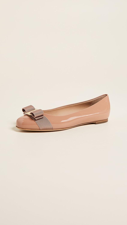 13005c5c97ec3 Amazon.com: Salvatore Ferragamo Women's Varina Flats, New Blush, Tan, 5.5 M  US: Shoes