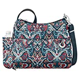 Travelon Women's Anti-Theft Boho Square Crossbody Cross Body Bag, Summer Paisley, One Size