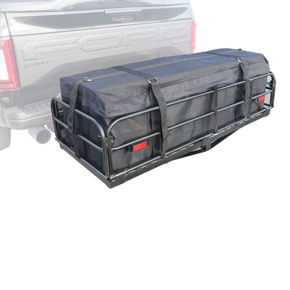 Oklead Hitch Mount Waterproof Rainproof Cargo Carrier Bag Heavy Duty Soft Travel Cargo Bag Storage for Car Truck SUV BG01-1