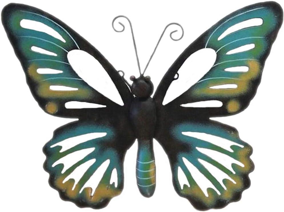 Arte de la pared decoración de pared de Metal escultura - - mariposa para el jardín o en la casa: Amazon.es: Jardín