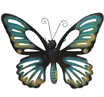 Metall Wanddekoration Schmetterling Wandschmuck Deko Wanddeko