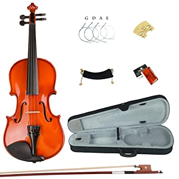 Esound 1/16 ML0011A Violín de Barniz de Madera Maciza con Estuche Rígido, Reposacabezas, Arco, Colofonia y Extra Cuerdas