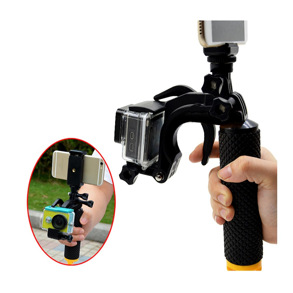 Sunmenco Universal Pistol Shutter Stabilizer Section Trigger Floating Hand Grip Bobber For Xiaomi Yi And Gopro Hero 2 3 5 4 Action Camera