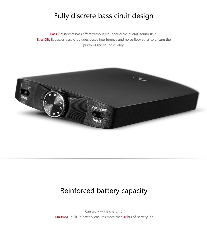 FiiO A3 (E11K E11) Kilimanjaro 2 Portable Headphone Amplifier with Extreme Audio 3.5mm Stereo to RCA Cable by FiiO (Image #3)