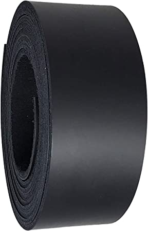 6-7 oz 2.4-2.8 mm 2.5 Inch Leather Strips 36 Inch Long Latigo Leather Strips Great for Belts Black Collars,Leather Craft Made in USA by Pitka Leather