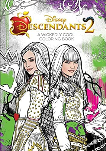 Amazon.com: Descendants 2 A Wickedly Cool Coloring Book (Art of ...