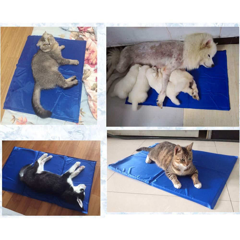 Pad in Dunkelblau Bainuojia K/ühlmatte f/ür Hunde Fresk K/ühlmatte Hunde Katzen Haustiere Selbstk/ühlendes K/ühlkissen Matte zur Regulierung der K/örpertemperatur
