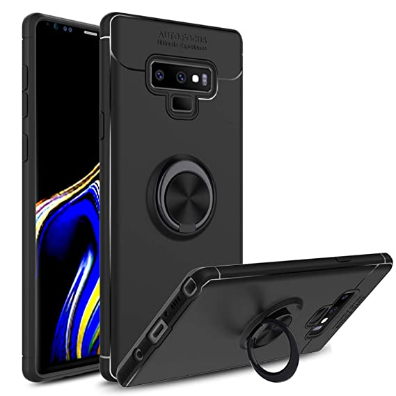 new concept 3ee49 1380d Venoro Galaxy Note 9 Case, 360 Degree Rotatable Ring Stand and Ring Holder  Kickstand Fit Magnetic Car Mount Slim Soft Protective Case Cover for ...