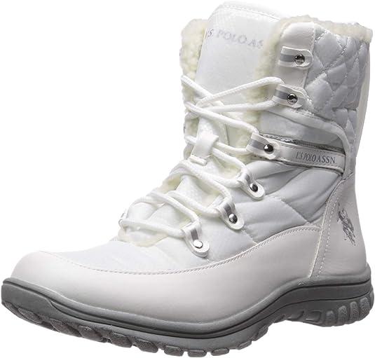 U.S. Polo Assn.(Women's Women's Cascade Fashion Boot, White, 7.5 Medium US