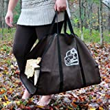"Dark Brown Log Carrier with Black Trim 23"" wide x 43 long"