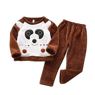 dd45c518b488 Heeyuan Child s Cute Cartoon Pattern Printed Pajama Sets Soft and  Comfortable Top and Pants Fashion Kids