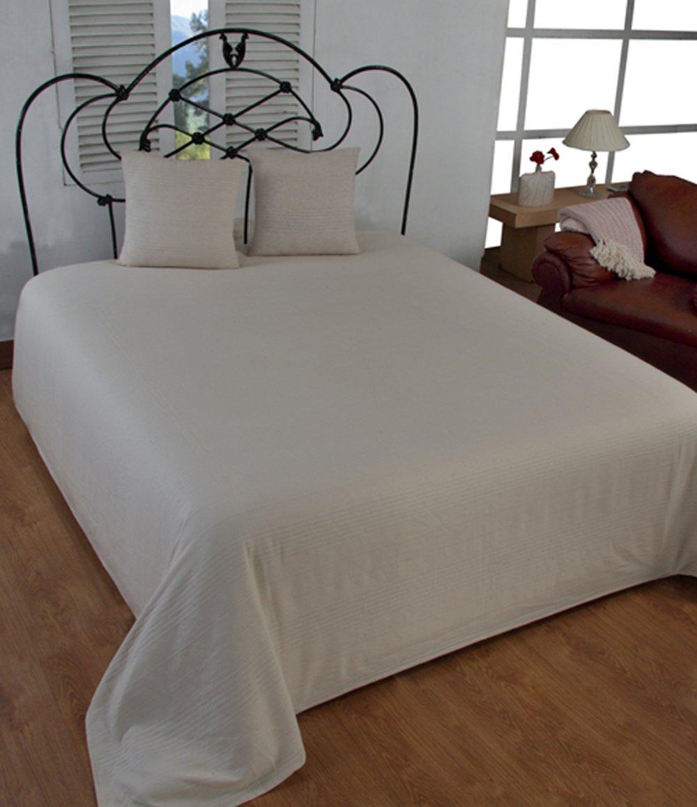 a coste colore: Bianco avorio EliteHomeCollection Copridivano o copriletto in stile classico indiano 150 x 200 cm