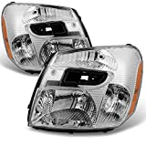 Chevy Equinox SUV Clear Headlights Headlamps Front Lamps Replacement Left + Right Pair set