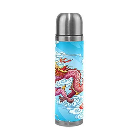 Amazon.com: lorvies dragón chino pintura termo de acero ...