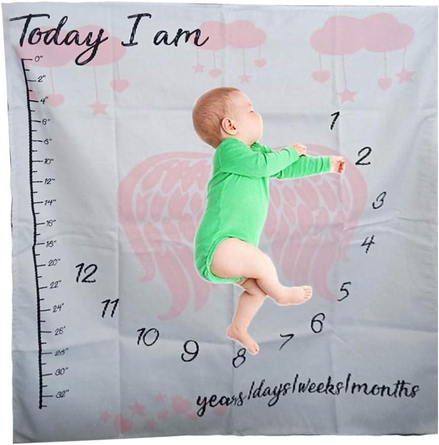 Hintergrund Kalender f/ür Neugeborene Foto-Requisite Fotozubeh/ör Jungen ❤ Baby-Fotodecke Stoff M/ädchen