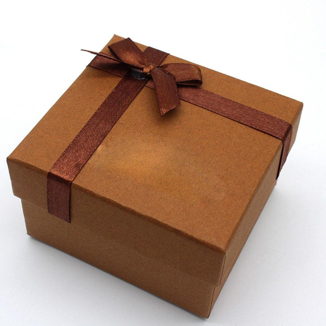 myedo新しい用紙Square Watchボックス単一グリッドwith枕ジュエリーボックスファッション B079RYW3S4