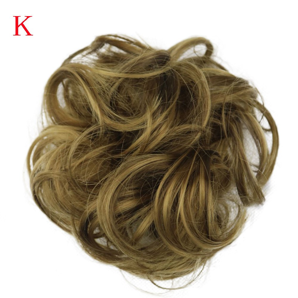 Keliay Cosplay Party Disco Funny Women's Curly Messy Bun Hair Twirl Piece Scrunchie Wigs Extensions Hairdressing