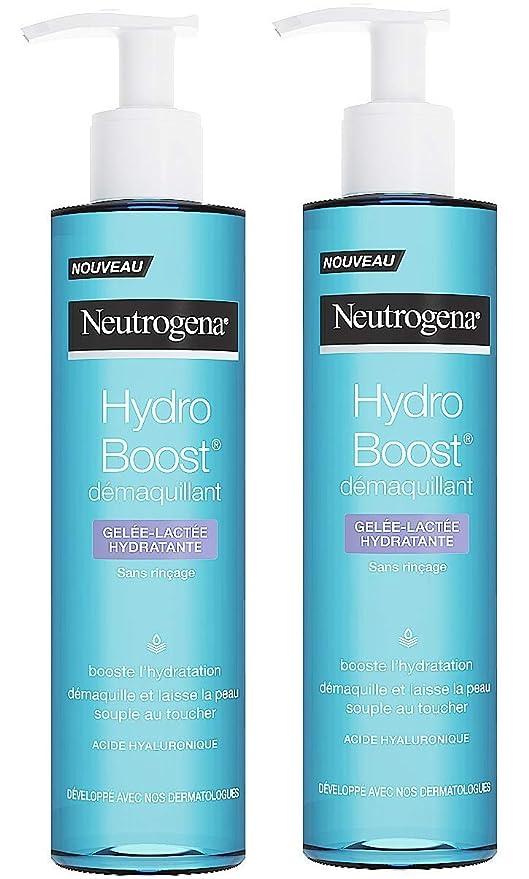 Neutrogena Hydro Boost desmaquillante gelificante y lechoso – Juego de 2 unidades