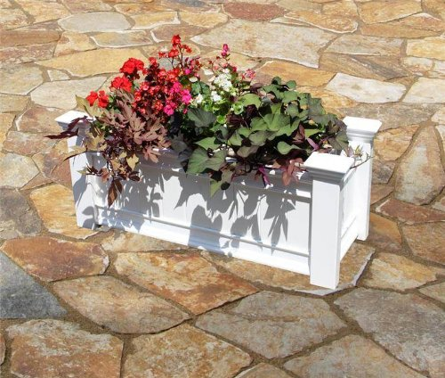 Windsor Long 42''W x 16''L Vinyl Planter Box by New England Arbors