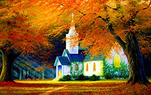 Church in The Glen 550 Piece Jigsaw Puzzle by SunsOut