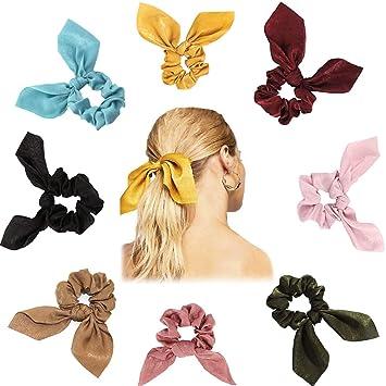 Satin Elegant Pearl scrunchies,hair ties,hair elastic,scrunchy women,hair accessorie,hair ribbon,womens hair accessories scrunchies 3 pack