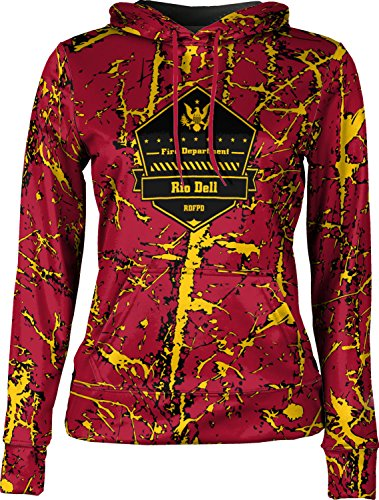 Price comparison product image Girls' Rio Dell Fire Protection District Fire Department Distressed Pullover Hoodie