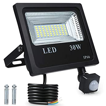 Foco Exterior LED,Tomshine 30W 60 LED 2400ML IP66 Impermeable Foco ...