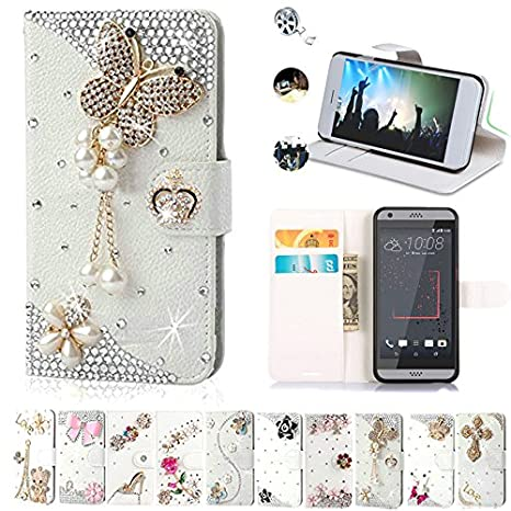 new products 92308 cd4ff HTC Desire 530 Cases, Htc Desire 630 Case, AMASELL Glitter Bling Diamonds  [Stand View] PU Leather Flip & Card Slot Holder + Magnetic Folio Wallet ...
