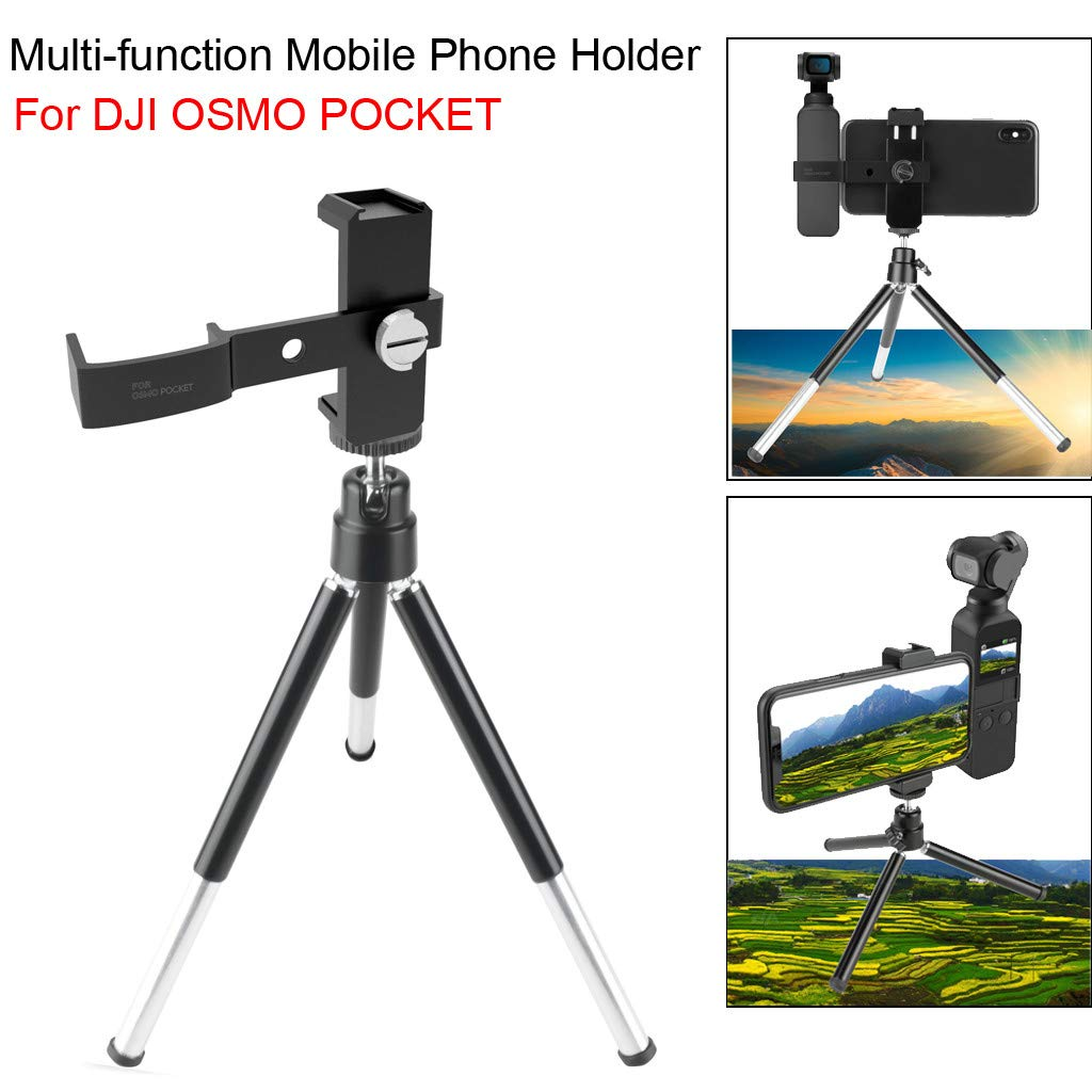 holder stand, LtrottedJ Multifunction Tripod Mount Stand Phone Holder For DJI Osmo Pocket Handheld Cam