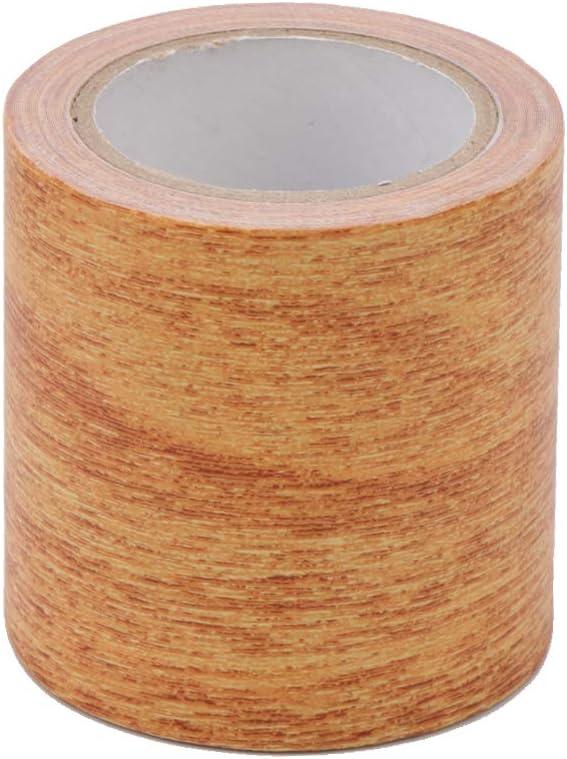 Qiuxiaoaa 5M Roll Cinta Adhesiva Realista para reparaci/ón de Vetas de Madera 8 Colores para Muebles Muebles Cinta 5#