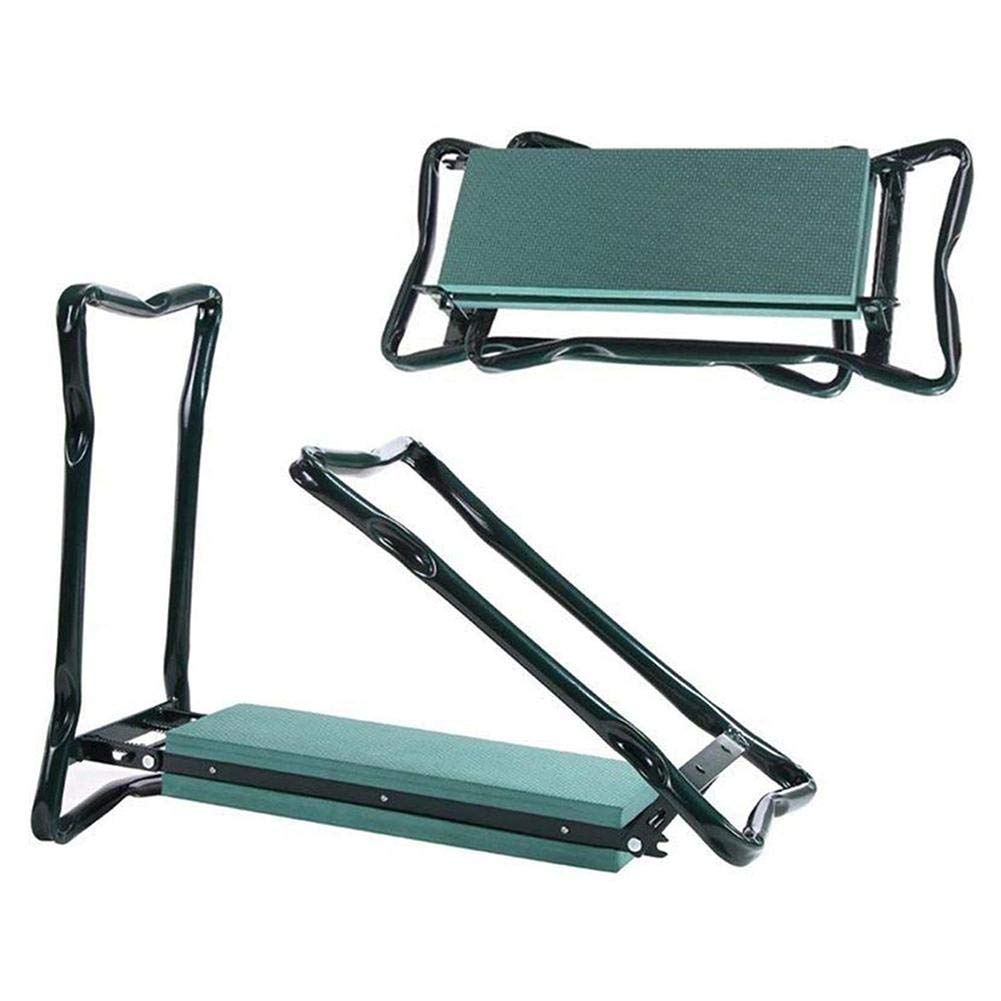 benefit-X Folding Garden Stool Multi-Functional Gardening Tools Garden Kneeler and Seat with Two Large Tool Bags Widening and Comfortable Mattress Garden Kneeler and Seat
