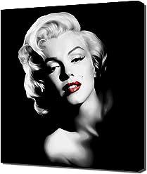 Pingoo Prints Marilyn Monroe Black And White Red Lipstick