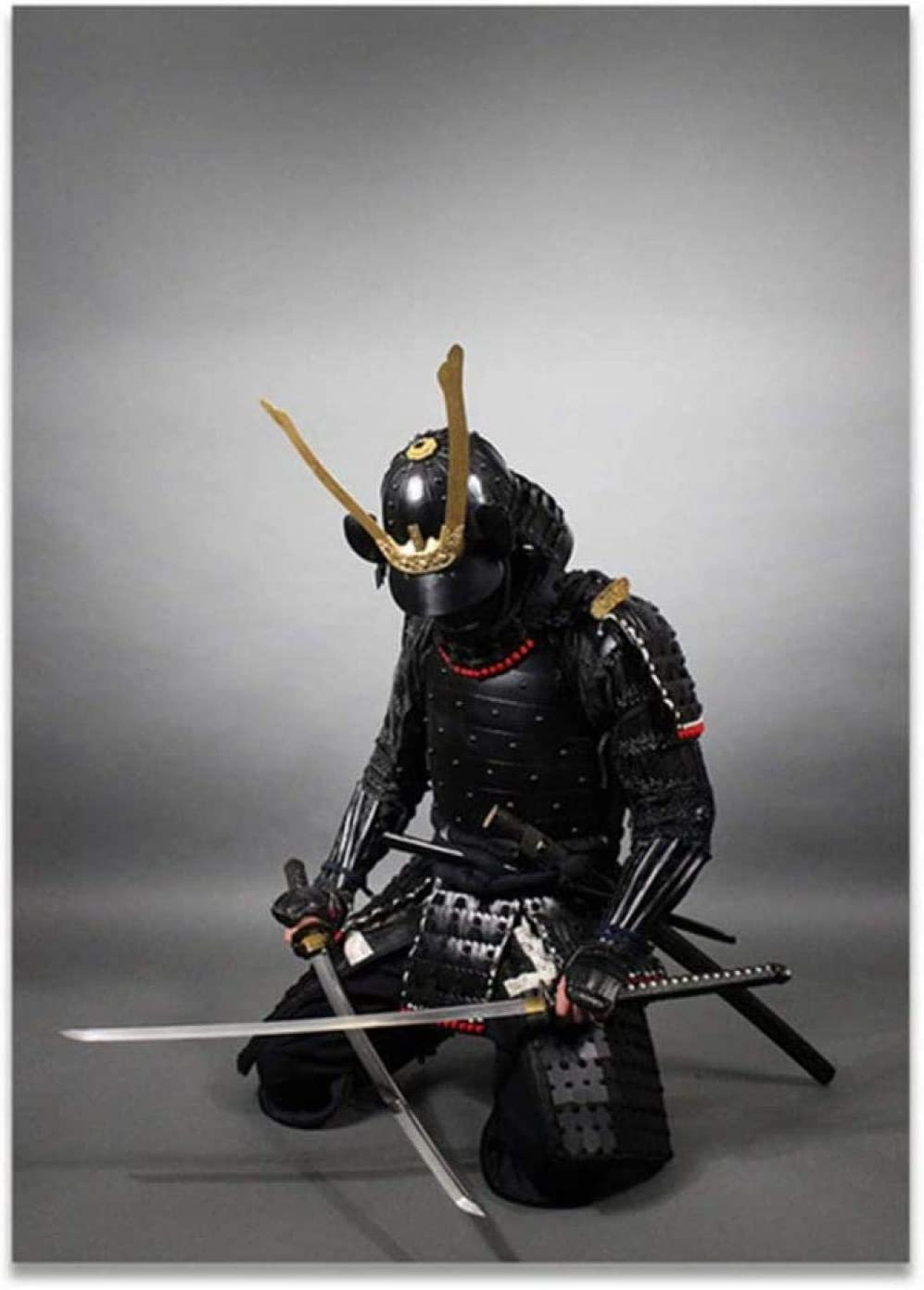 MKAN Carteles E Impresiones De Armadura De Espada Samurái Japonesa, Pintura En Lienzo, Cuadros Artísticos De Pared, para Decoración del Hogar, Impresión De 50X70Cm