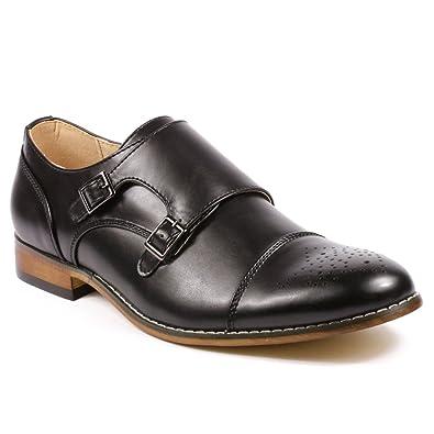 1042119b6da mens black monk strap dress shoes – Little Black Dress | Black Lace ...