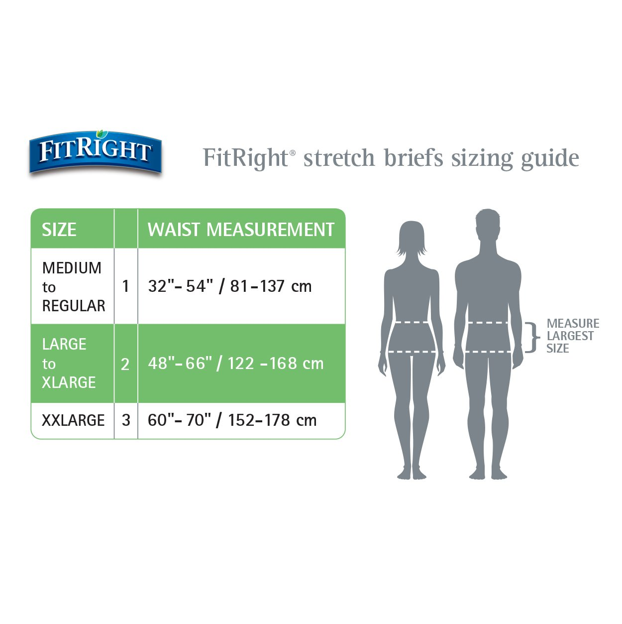 Amazon.com: FitRight Stretch Adult Briefs with Tabs, Heavy Absorbency, Medium, 32